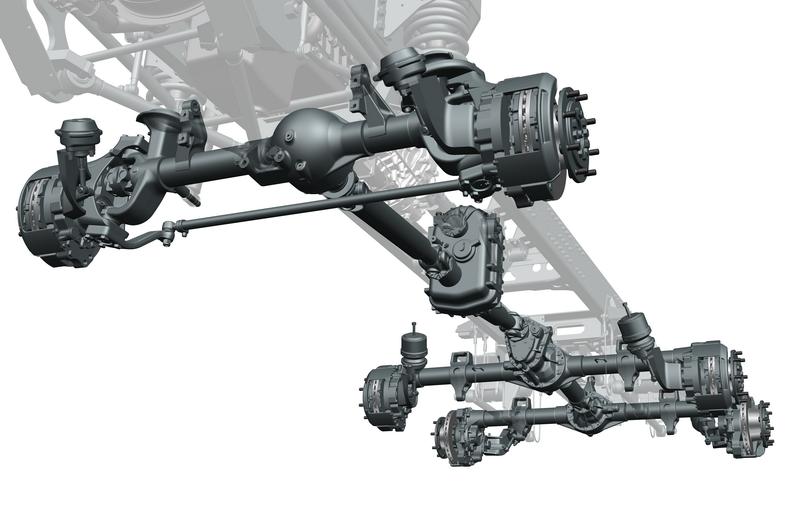 Portal Axle Design : Unique t chassis tatratrucks