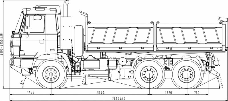 Three Door Trucks >> 6x6 TATRA TERRA 3-WAY TIPPER :: Tatratrucks.com