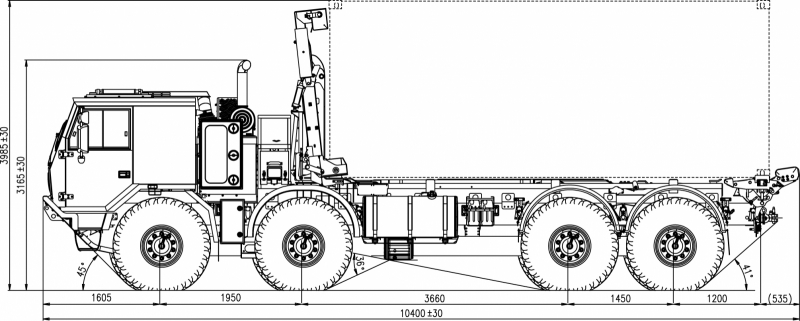 8x8 High Mobility Heavy Duty Chassis Cab With Load
