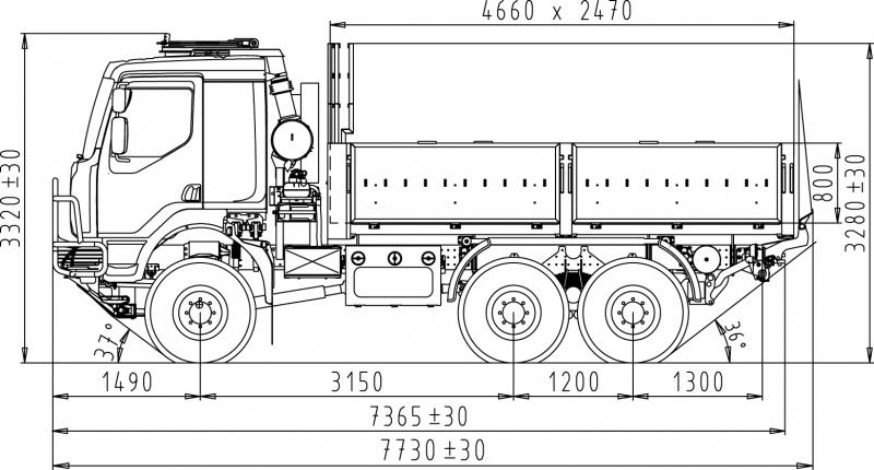 6x6 cargo truck with cargolift platform. Black Bedroom Furniture Sets. Home Design Ideas