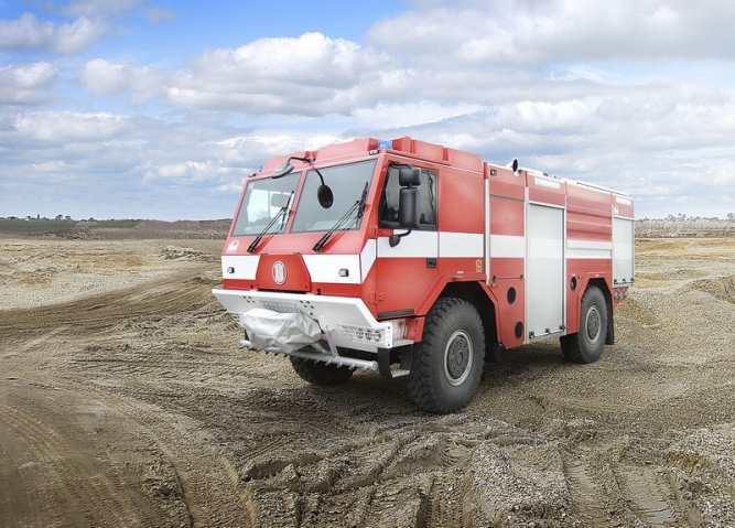 4x4 FIRE TRUCK CHASSIS-CAB