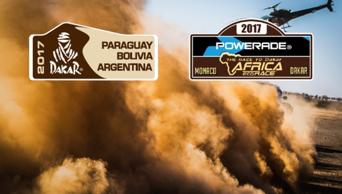 TATRA racing trucks are at the finish