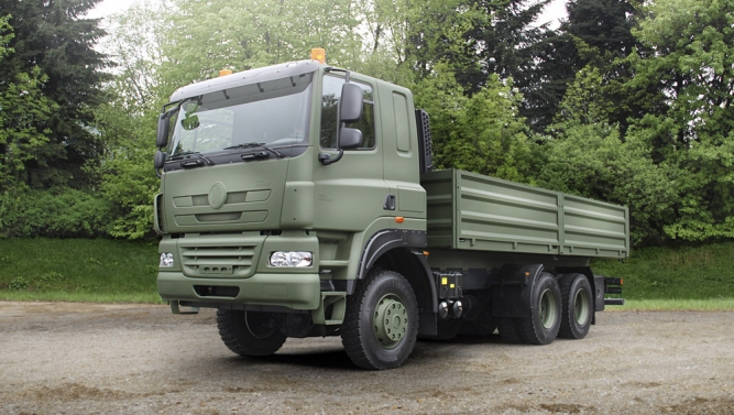 TATRA PHOENIX in olive drab at IDEB 2012