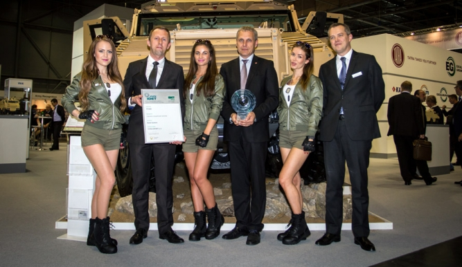 The TITUS® armored vehicle produced by TATRA TRUCKS awarded Gold IDET at the Brno Trade Fair