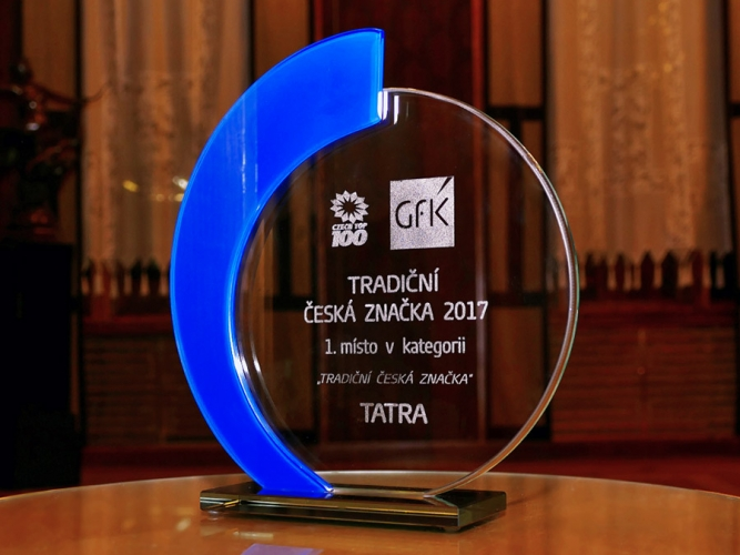 TATRA TRUCKS won the prestigious award Traditional Czech Brand 2017