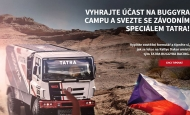 Cheer on and win a ride with TATRA racing truck
