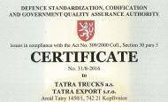 TATRA EXPORT Ltd. defended the certificate AQAP 2110